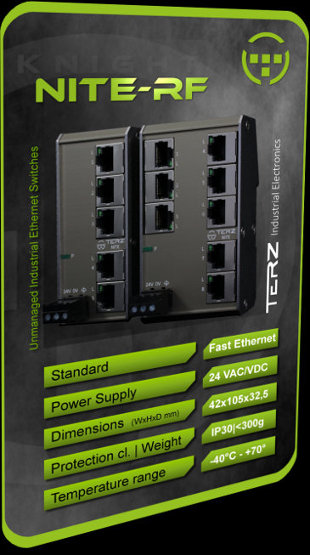 Flat RJ45 unmanaged Industrial Ethernet Switch